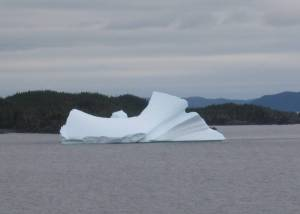 Bonavista Bay with iceberg