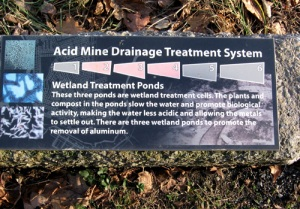 Plaque explaining the AMD treatment process