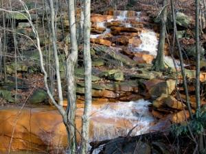 Acid mine drainage in Auld's Run