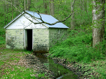 The old springhouse in Redbud Valley