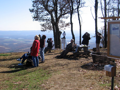 Visitors on a typical day at the Allegheny Front Hawk Watch