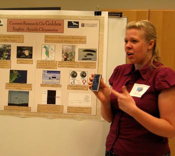 Maria Wheeler's golden eagle display