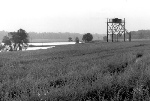 The hacking tower on Haldeman Island, 1989