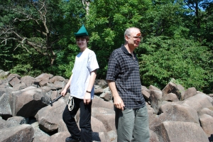 Gary and Patrick Myers at-Ringing Rocks County Park