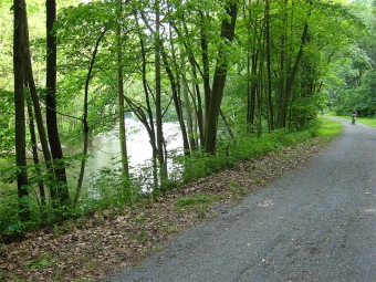 The Lower Trail along the Frankstown Branch of the Juniata River (Photo by Mjm350 in Wikimedia, Creative Commons license)