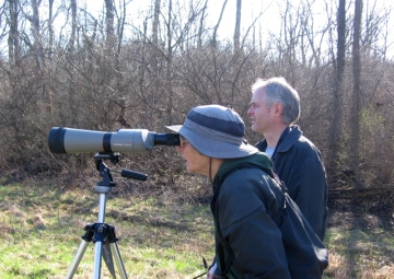 With Mark and our spotting scope