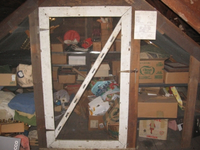 The squirrel cage in our attic (Photo by Bruce Bonta)